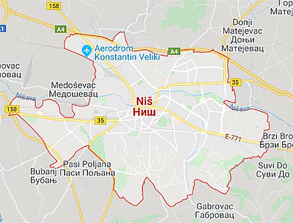 Град Ниш, фото: Гугл мап